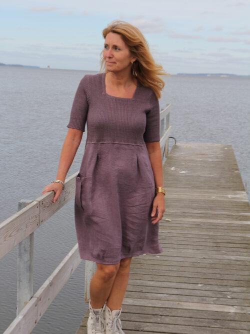 Violet linen dress