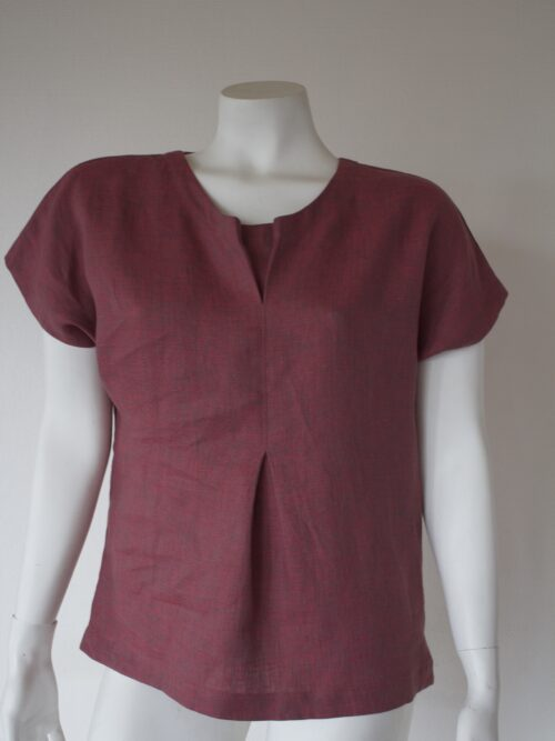 Linen top from the front