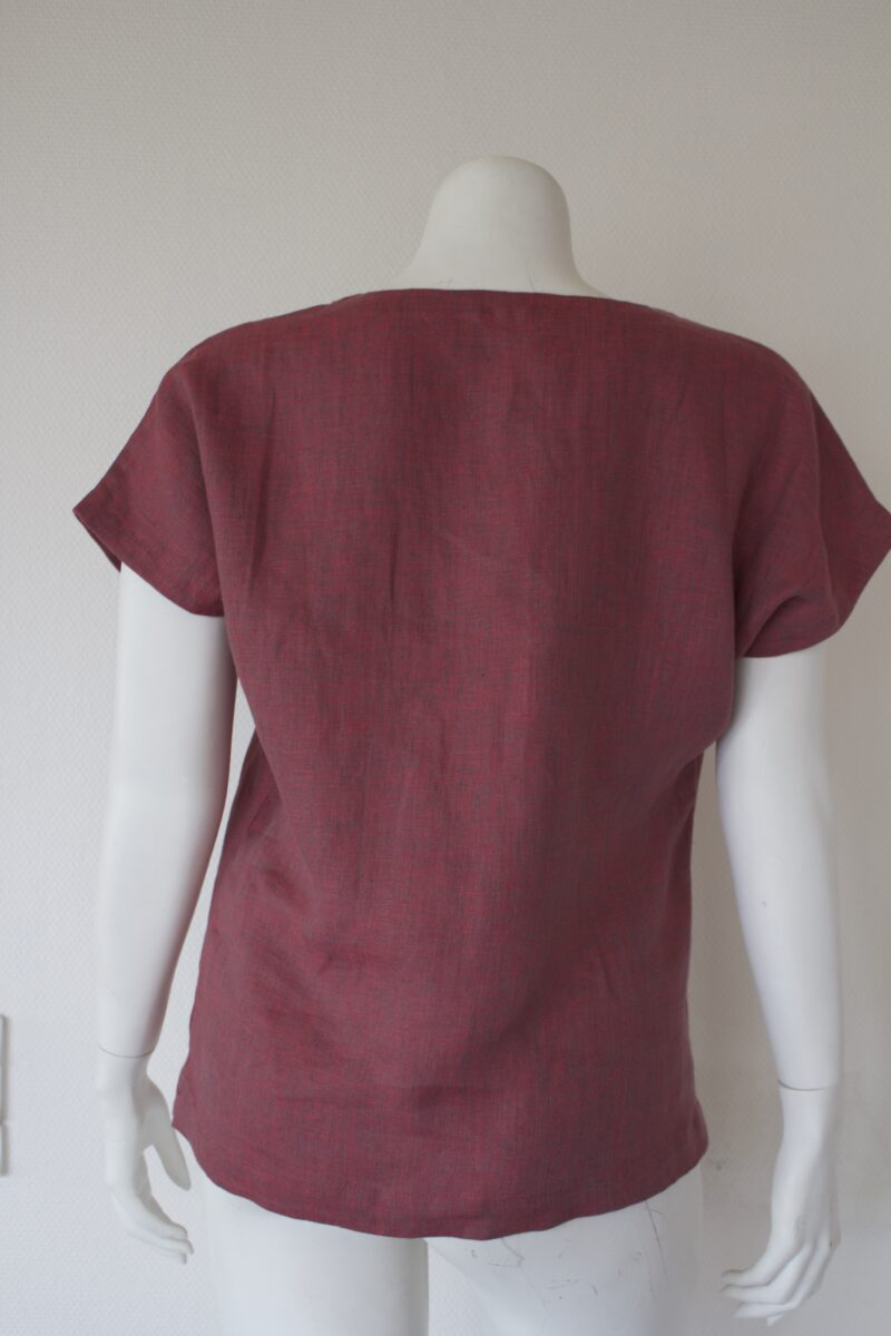 Linen top from the back