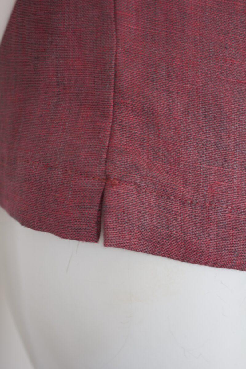 Linen top slit detail