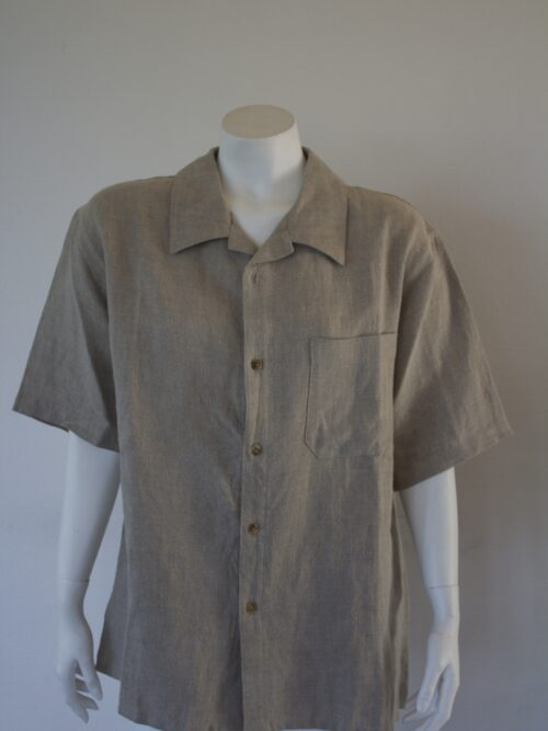Mens natural linen shirt