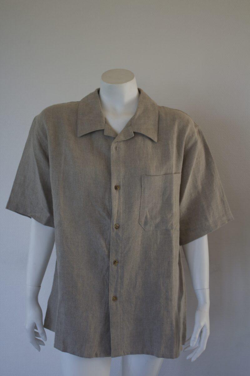 Mens natural linen shirt