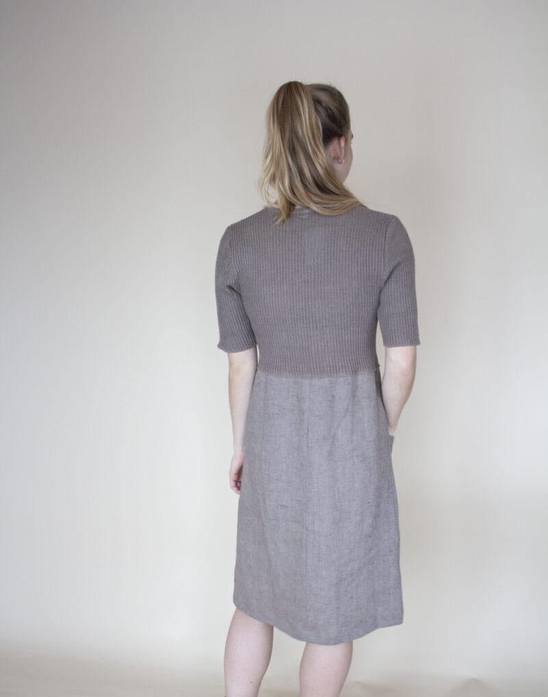 strikket hør kjole