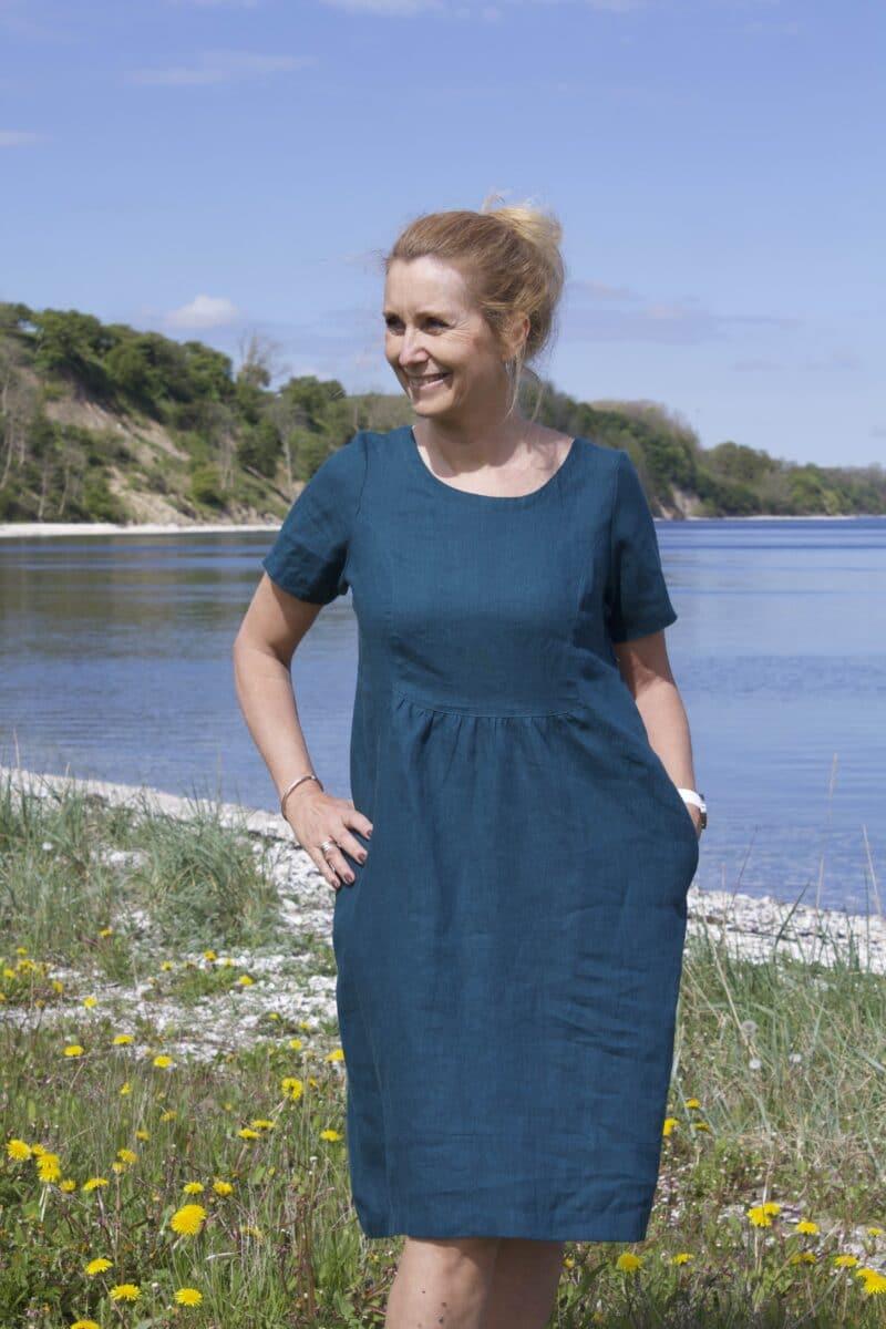 summer dress in linen